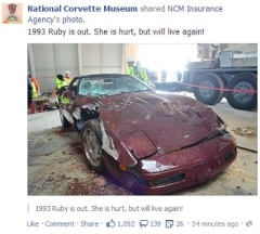 Corvette Museum Facebook rescue