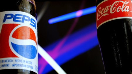 Pepsi vs. Coca Cola bottles
