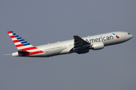 American Airlines Boeing 777 taking off