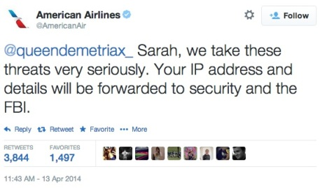 AA deals with teen Twitter threat