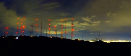 Antennas at night