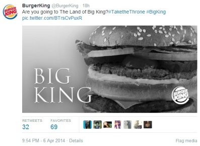 Burger King Game of Thrones
