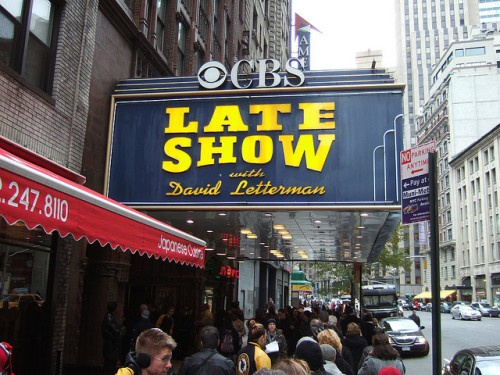 CBS Late Show with David Letterman -- now Stephen Colbert