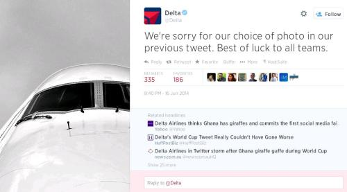 Delta World Cup tweet fail