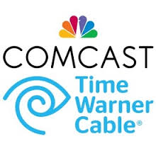 Comcast and Time Warner Cable logos