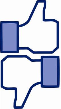Like-Dislike Thumbs - Facebook