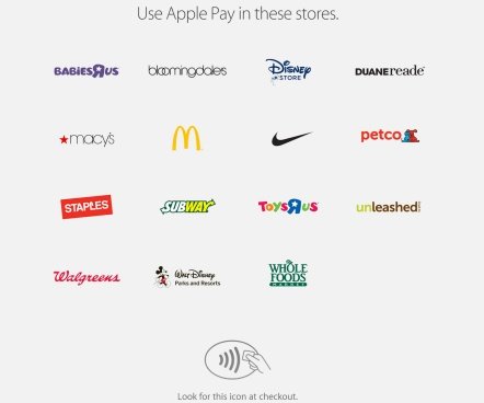 Apple Pay Partner Brands