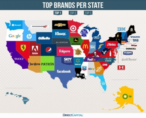 Top brands by state 2014